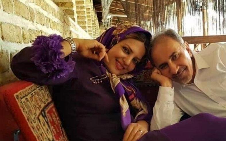 شهردار سابق تهران به همراه همسر دومش